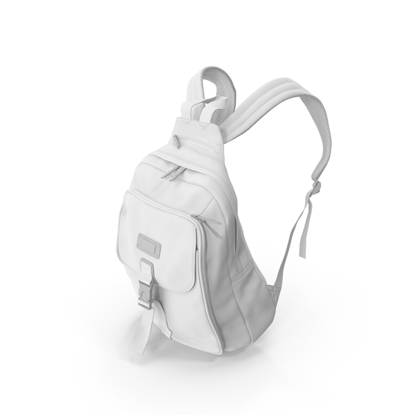 Women's Backpack White PNG & PSD Images