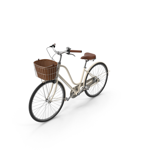 Bicycle: Women's Bike with Basket PNG & PSD Images