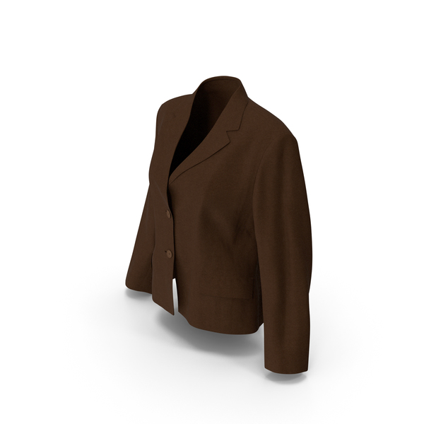 Women's Blazer Brown PNG & PSD Images