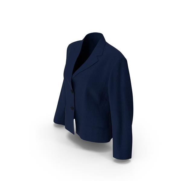 Women's Blazer Dark Blue PNG & PSD Images