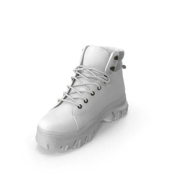 Women's Boot  White PNG & PSD Images