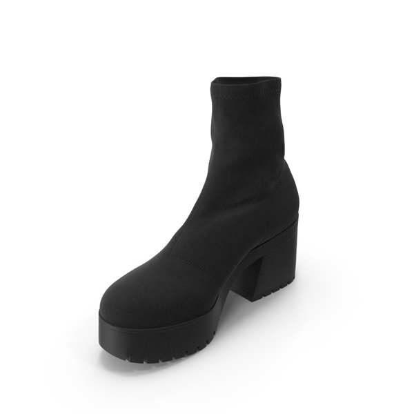 Women's Boots Black PNG & PSD Images