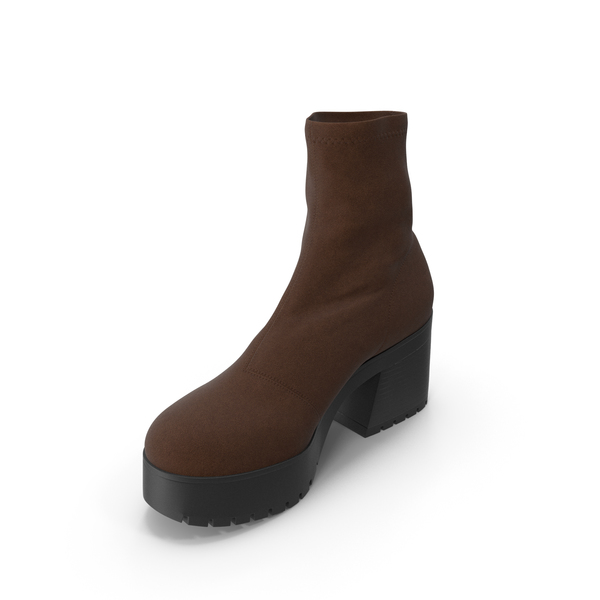 Women's Boots Brown PNG & PSD Images