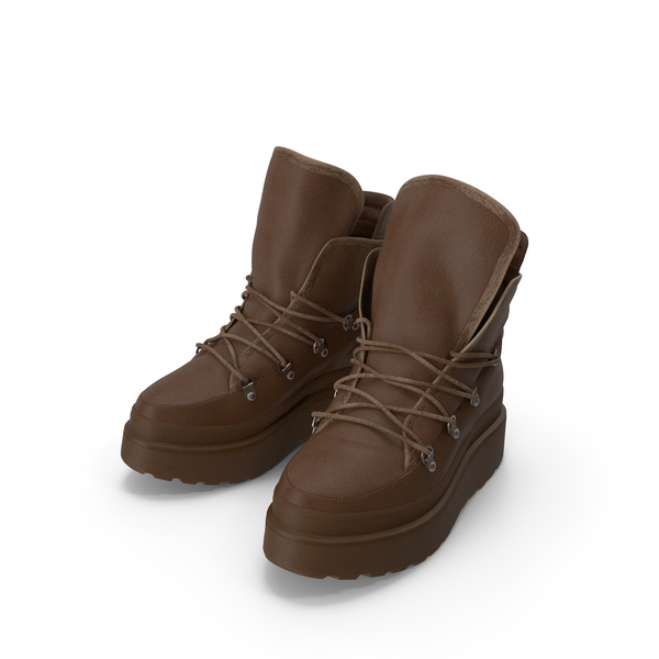 Women's Boots Pair Brown PNG & PSD Images