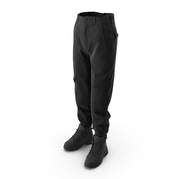 Women's Boots Pants Black PNG & PSD Images