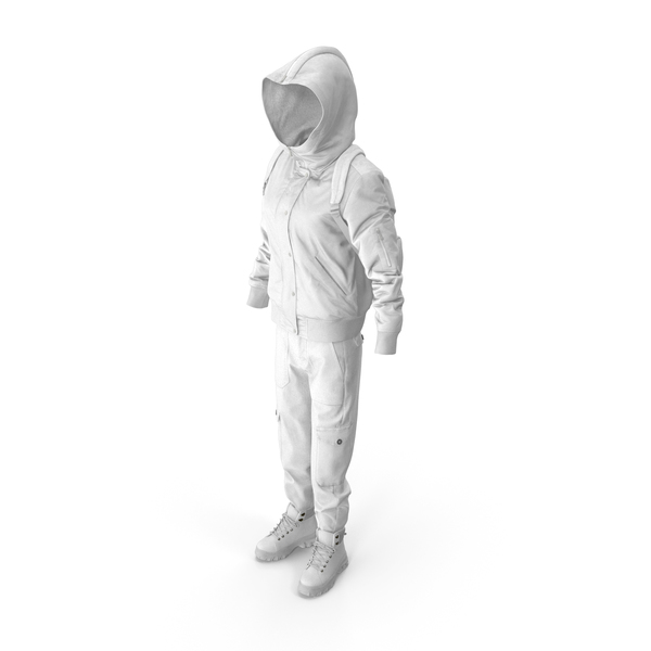 Women's Boots Pants Down Jacket Pullover Backpack White PNG & PSD Images