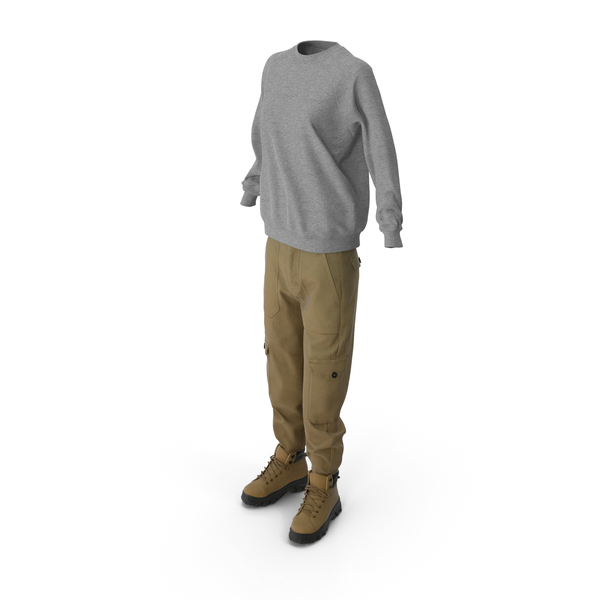 Women's Boots Pants Pullover PNG & PSD Images