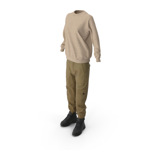 Women's Boots Pants Pullover Mix PNG & PSD Images