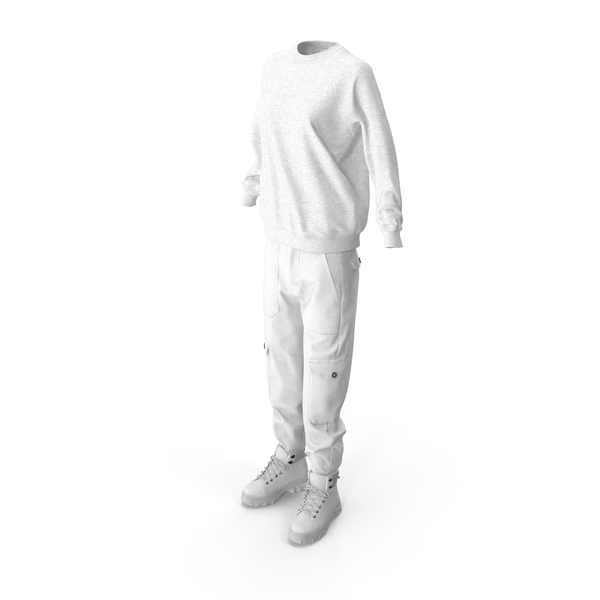 Women's Boots Pants Pullover White PNG & PSD Images