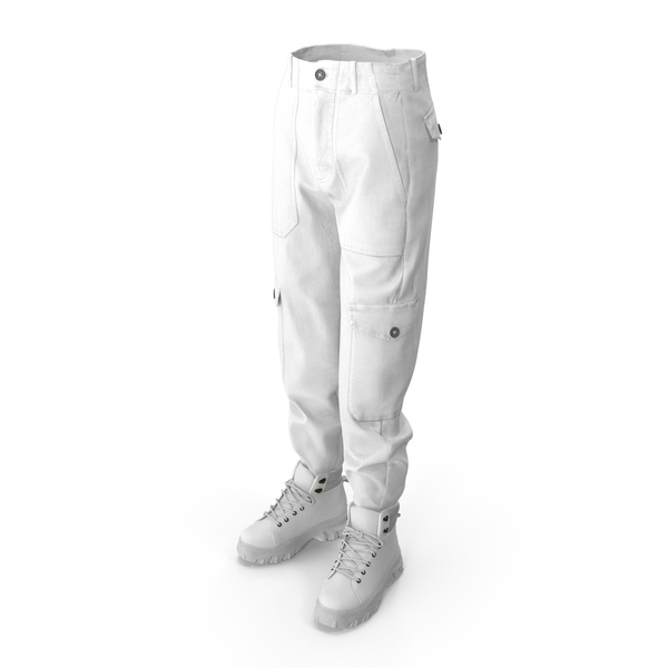 Women's Boots Pants White PNG & PSD Images