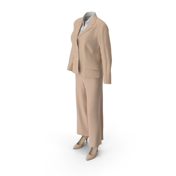 Women's Business Suit Beige PNG & PSD Images