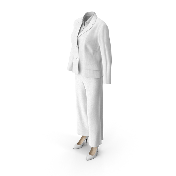Women's Business Suit White PNG & PSD Images