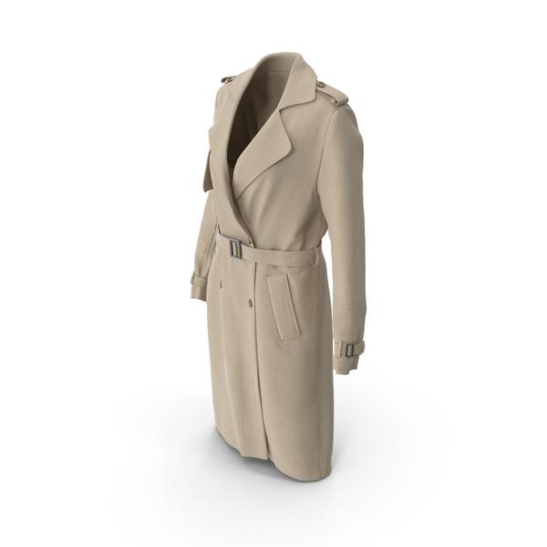 Women's Coat Beige PNG & PSD Images