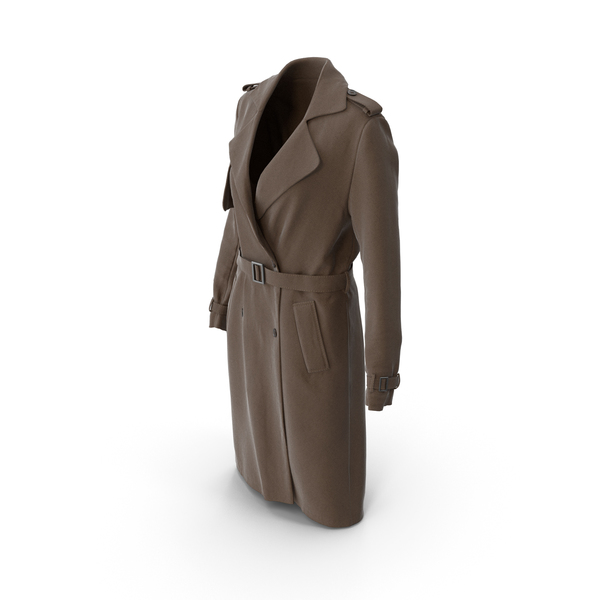 Women's Coat Brown PNG & PSD Images