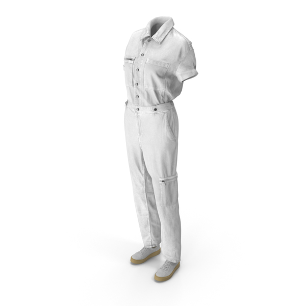 Uniform: Women's Coveralls With Sneakers PNG & PSD Images