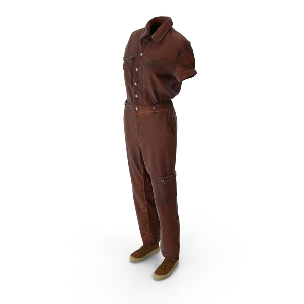Women's Coveralls With Sneakers PNG & PSD Images
