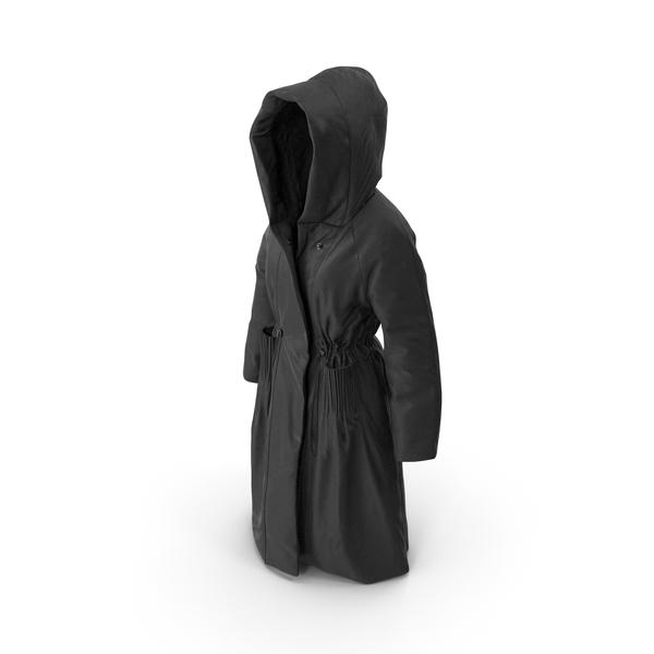 Jacket: Women's Down Coat Black PNG & PSD Images