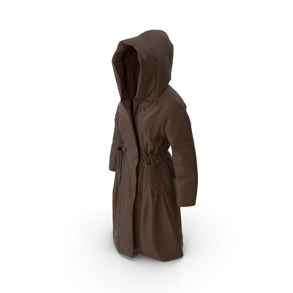 Women's Down Coat Brown PNG & PSD Images