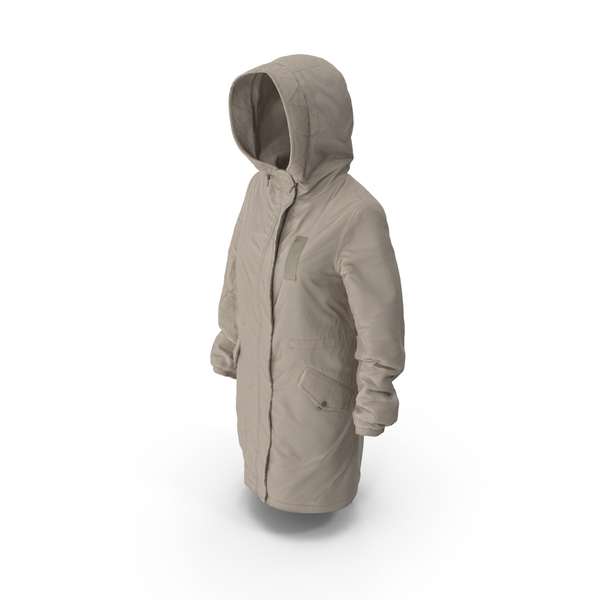 Women's Down Jacket Beige PNG & PSD Images