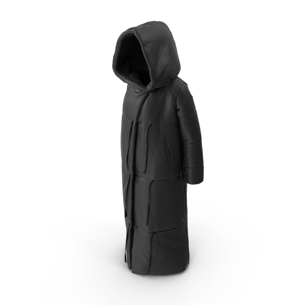 Women's Down Jacket Black PNG & PSD Images