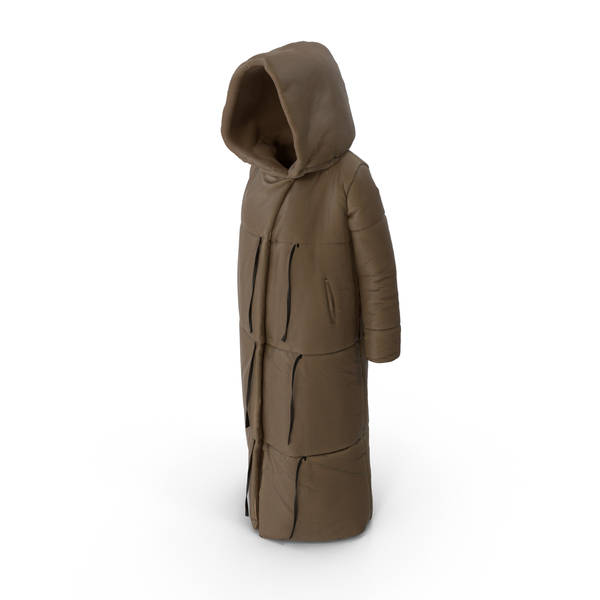 Women's Down Jacket Brown PNG & PSD Images