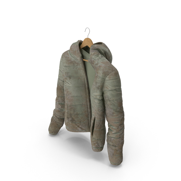 Women's Down Jacket Dirty On Hanger PNG & PSD Images