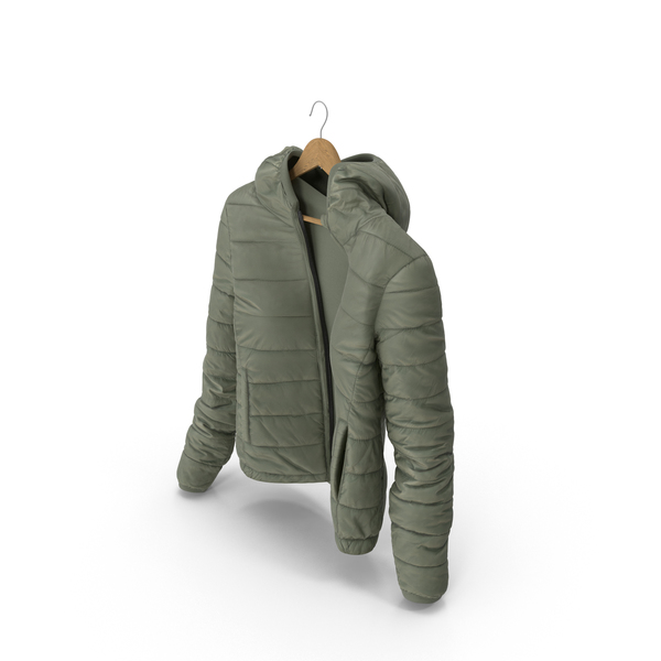 Women's Down Jacket On Hanger PNG & PSD Images