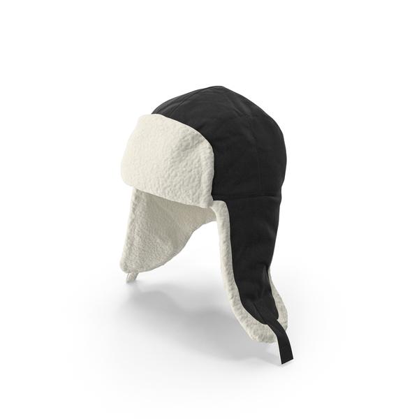 Women's Ear Flap Hat Black PNG & PSD Images