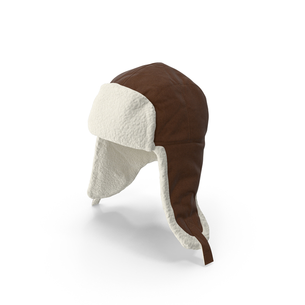 Knit Cap: Women's Ear Flap Hat Brown PNG & PSD Images