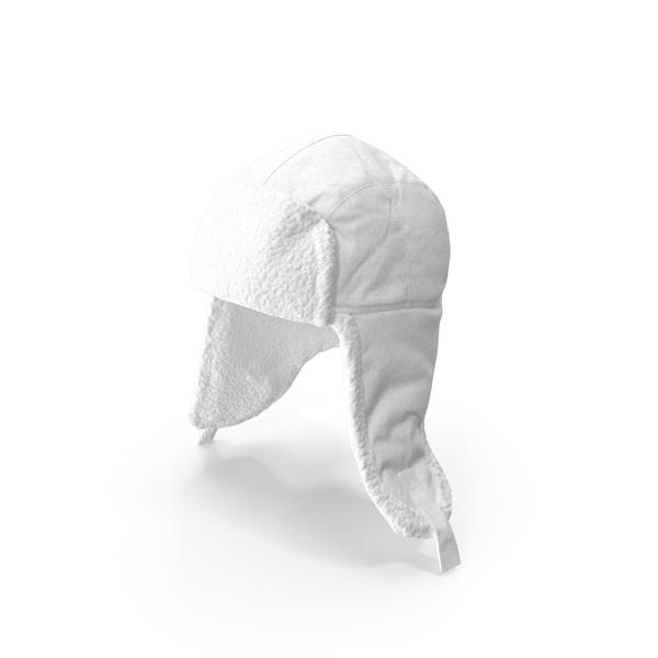 Knit Cap: Women's Ear Flap Hat White PNG & PSD Images