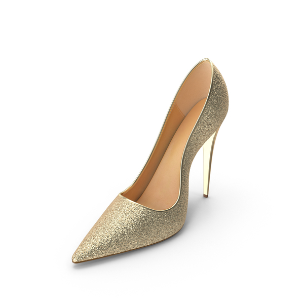 Women's Gold Shoes PNG & PSD Images