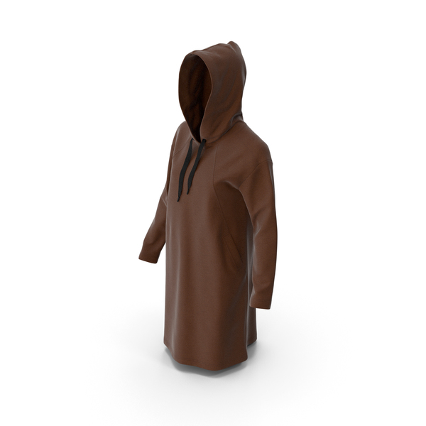 Women's Hoody Brown PNG & PSD Images