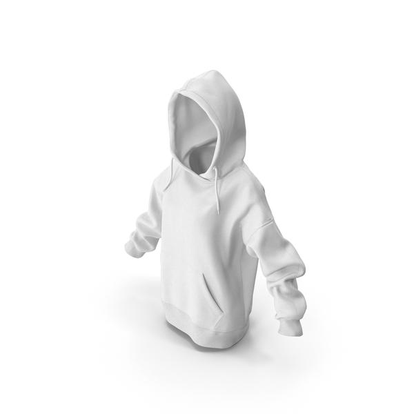 Sweatshirt: Women's Hoody White PNG & PSD Images