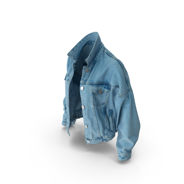 Women's Jean Jacket PNG & PSD Images