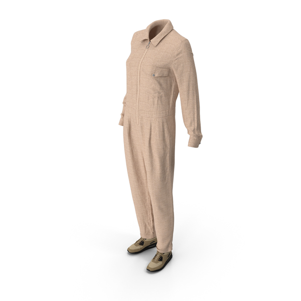 Women's Overalls Sneakers Beige PNG & PSD Images