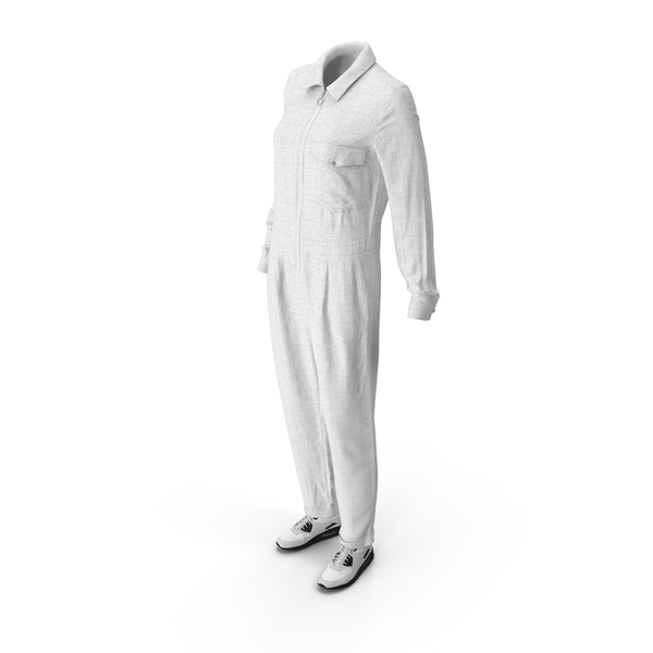 Women's Overalls Sneakers White PNG & PSD Images