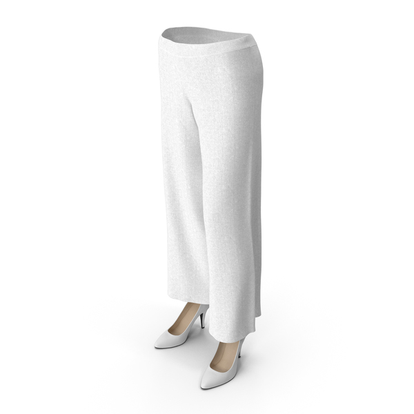 Women's Pants and Shoes White PNG & PSD Images