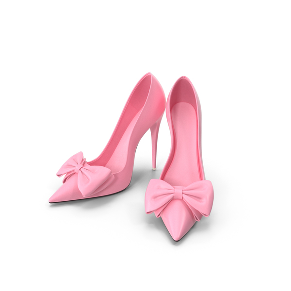 Women's Pink Shoes Patent Leather Bow PNG & PSD Images