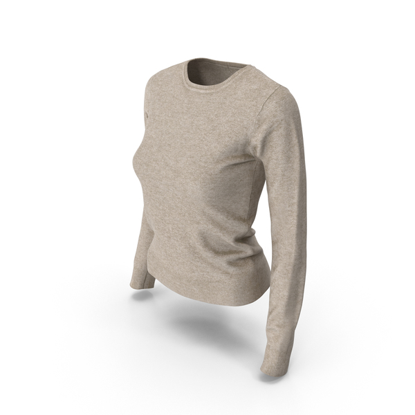 Women's Pullover Beige PNG & PSD Images