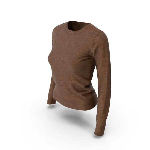 Women's Pullover Brown PNG & PSD Images