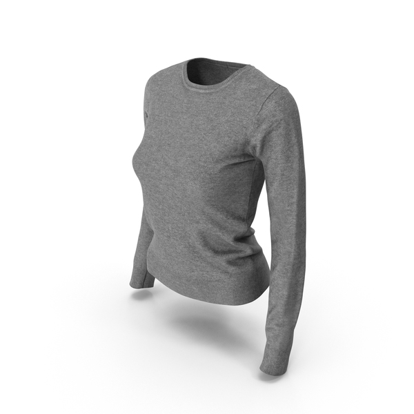 Women's Pullover Gray PNG & PSD Images