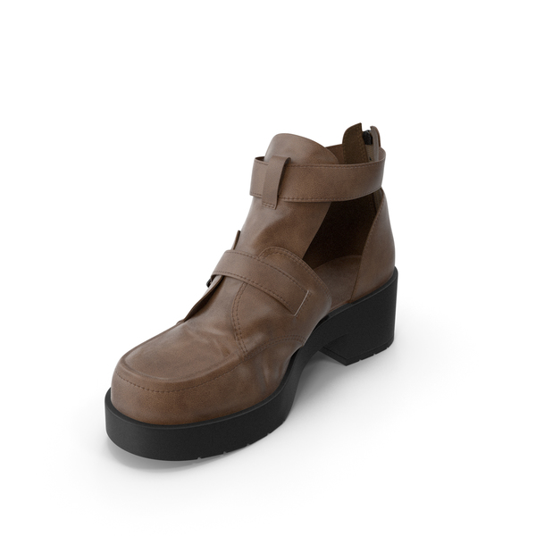 Shoes: Women's Sandal Brown PNG & PSD Images