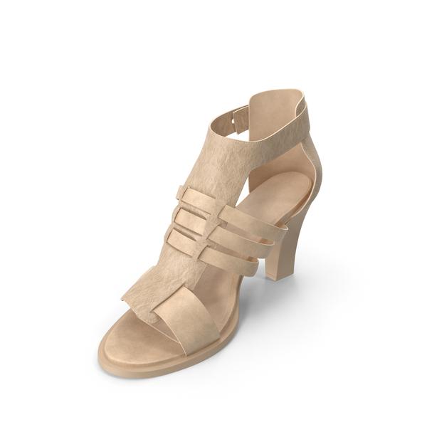 Women's Sandals Beige PNG & PSD Images