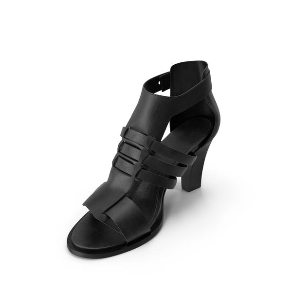 High Heels: Women's Sandals Black PNG & PSD Images