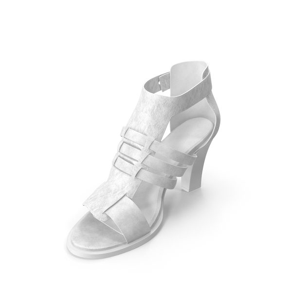 High Heels: Women's Sandals White PNG & PSD Images
