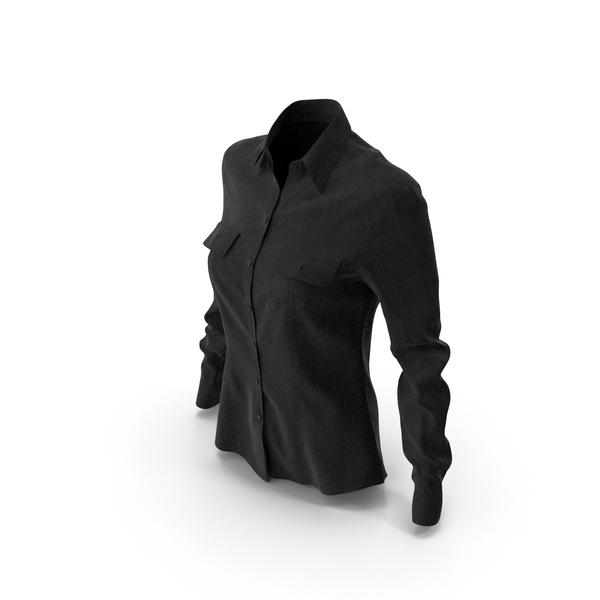 Women's Shirt Black PNG & PSD Images