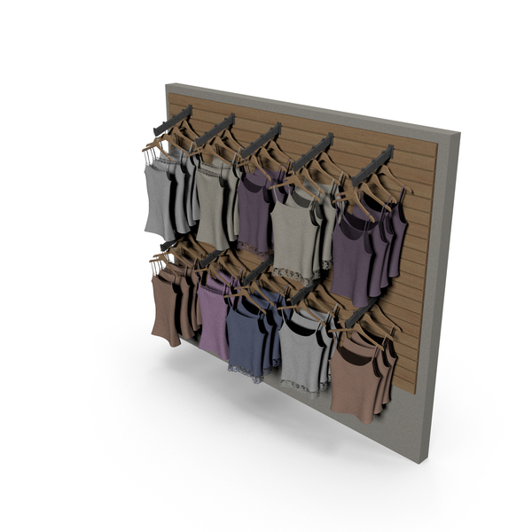 Clothes Stand: Women's Shirt Wall Display PNG & PSD Images