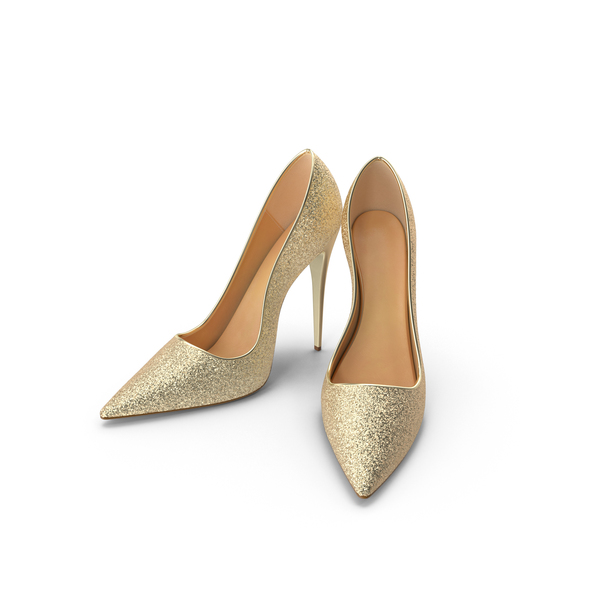 Women's Shoes Gold PNG & PSD Images