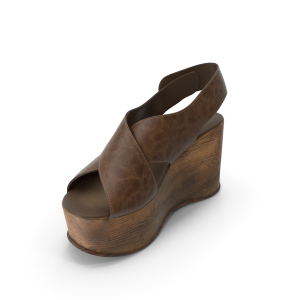 Women's Shoes Wood Brown PNG & PSD Images