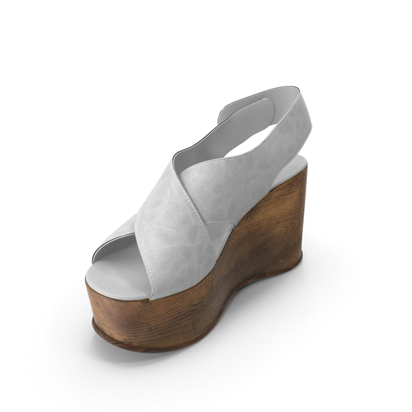 Women's Shoes Wood White PNG & PSD Images